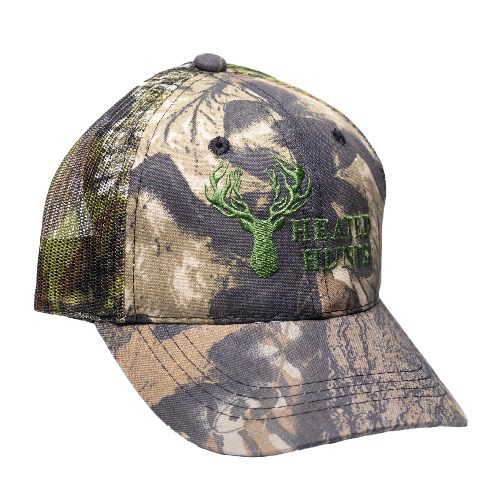 Camo Hat Green Stitch